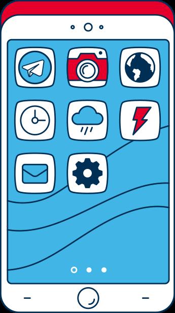Imagem tela do celular com aplicativo do Telegram