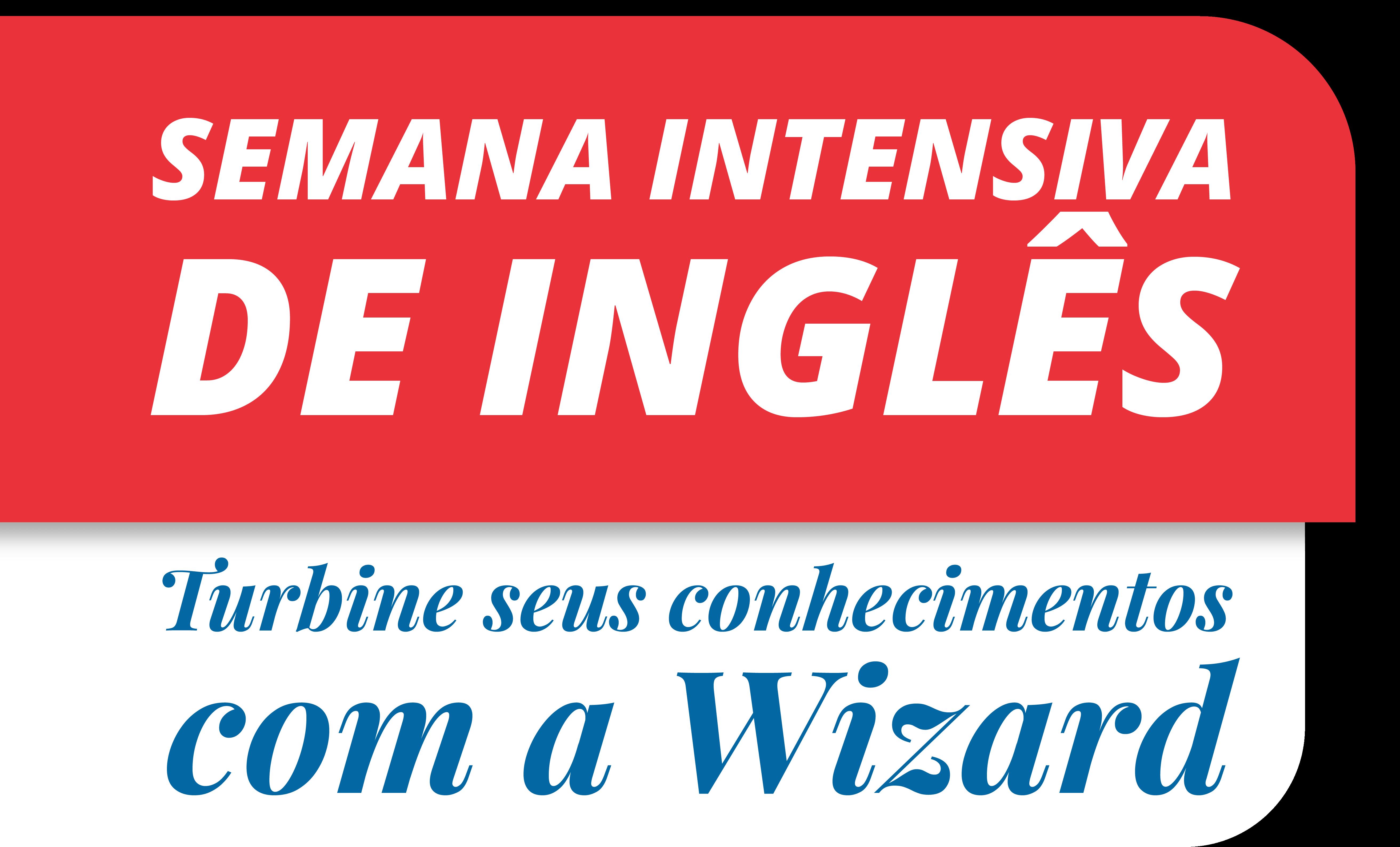 Semana Intensiva de inglês com a Wizard